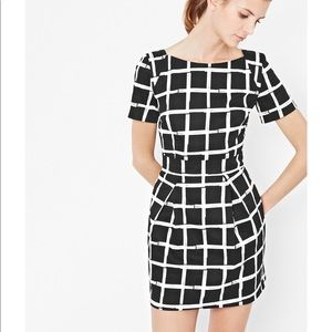 French Connection Richie Paint Check Pane Dress